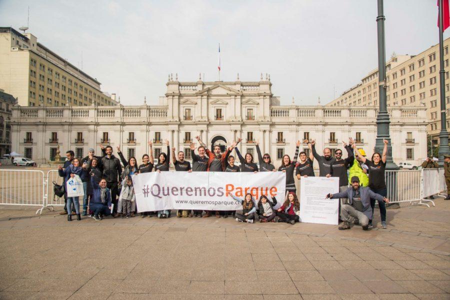 La campaña #QueremosParque logra su primera meta y entrega petitorio a Presidente Piñera